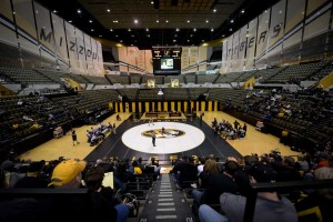 University of Missouri. Wrestling. Hearnes Center. Senior Day. Coach Brian Smith. Chancellor Bowen Loftin. On an afternoon where the seniors were honored, it was a true freshman that turned the tide Sunday as the No. 10 Missouri Tigers (9-2, 6-1) defeated Old Dominion (8-9, 4-3), 21-9. Head Coach Brian Smith recorded his 200th career win as the Tigers remain a perfect 8-0-1 all-time against the Monarchs.