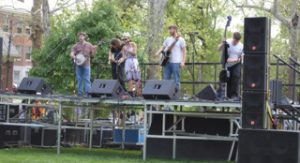 This bluegrass group performed at the festivities.