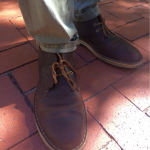 Leather boots have become a fall favorite on campus, and I am in full support. They go with nearly everything, especially olive colored pants, according to Shawn.