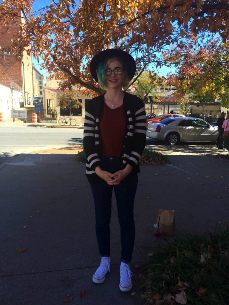 Caitlyn Busch, another J-School student, also chose her outfit based off the fall color palette.