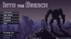 "The title screen of ""Into the Breach"" shows menu options and a robot overlooking a landscape"