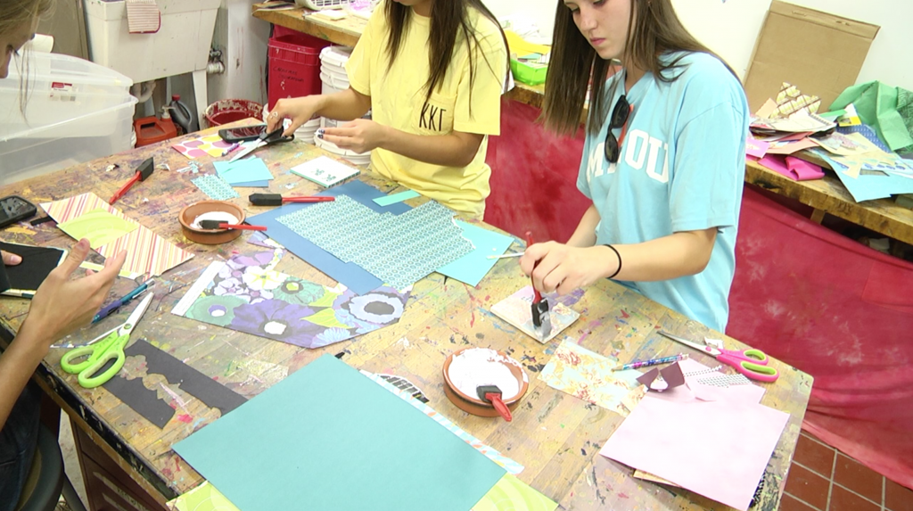 Students Enjoy Crafternoon at the Craft Studio