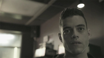 Rami Malek's character is shown in the show.