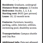Looking for a Lease? Off-Campus Housing Options
