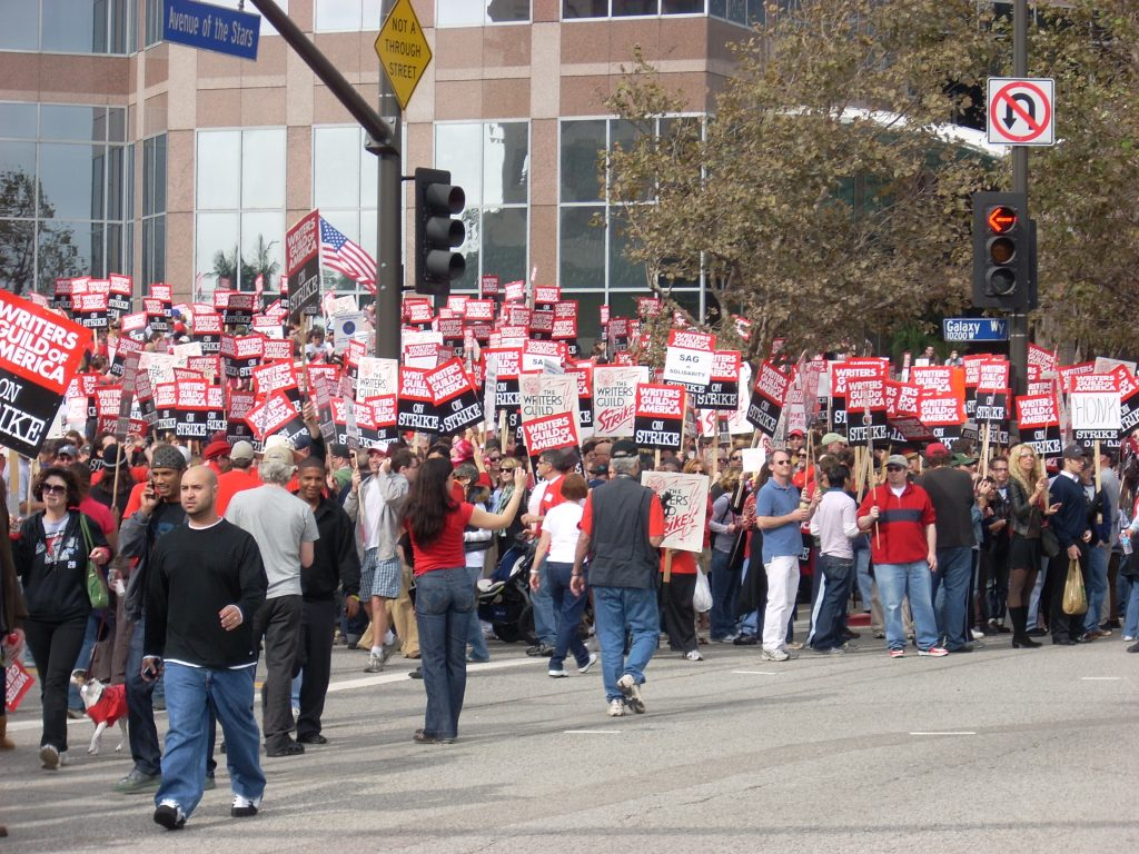 Picture of the Writer Guild of America strike.
