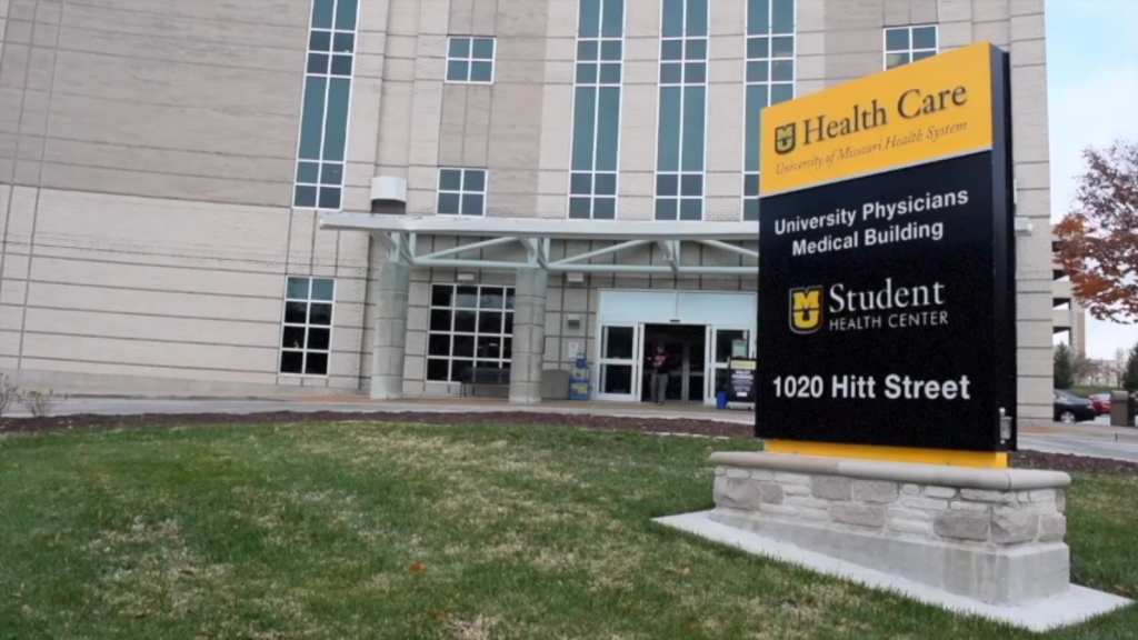 The Student Health Center is located at 1020 Hitt St.