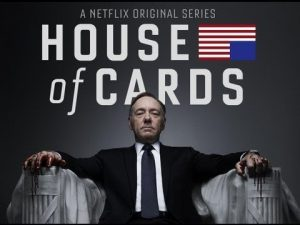 House of cards poster.